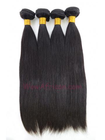 Natural Color Silky Straight Brazilian Virgin Hair Weave 4pcs Bundle[WB27]