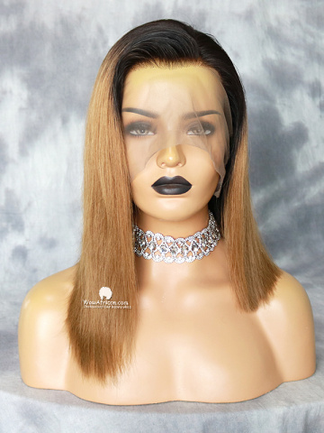 14in Ombre Blonde Color Bob Full Lace Wig[MS24]