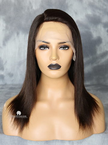 12in Natural Color Silky Straight Brazilian Virgin Full Lace Wig[WCS180]