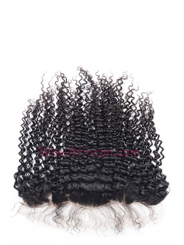 Natural Color Peruvian Curl Brazilian Virgin Hair Lace Frontal [LF23]