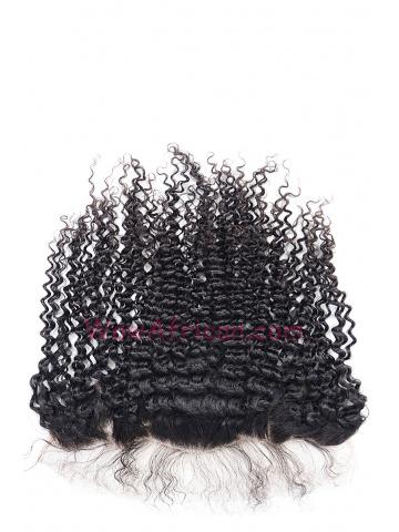 Natural Color Peruvian Curl Brazilian Virgin Hair Lace Frontal [LF23]