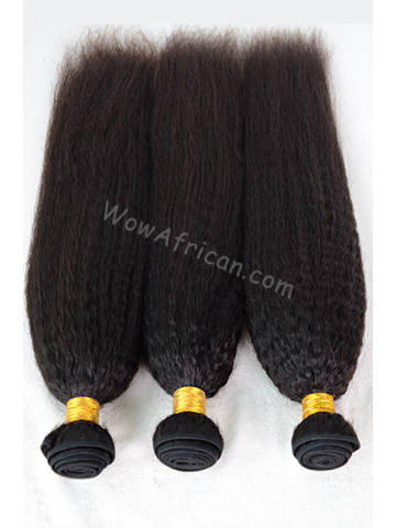 Natural Color Italian Yaki Brazilian Virgin Hair Weave 3pcs Bundle[WB226]