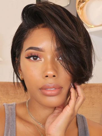 Short Pixie Cut Indian Hair Lace Front Wig[Bryana021]