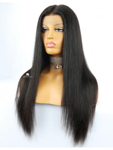 Silky Straight Virgin Brazilian Hair Lace Front Wigs [Lynsey008]