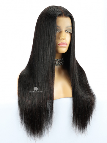 13X6in Thick Density Silky Straight Lace Front Human Virgin Wig [HW01US]