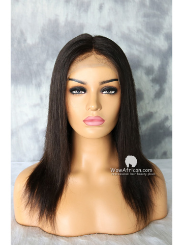 12in Natural Color Thick Density Silky Straight Brazilian Virgin Full Lace Wig[WCS163]
