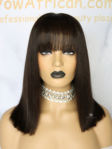 Shoulder Length Bob Haircuts with Bangs Lace Front Wig[CBW43]