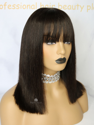 Shoulder Length Haircuts with Bangs Bob Lace  Wig [Michelle046]