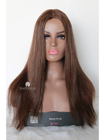 18in Silky Straight European Virgin Silk Top Jewish Wig[WCS118]