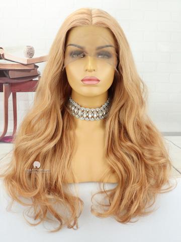22in Long Wavy Lace Front Lace Wigs Brazilian Hair [MS180]