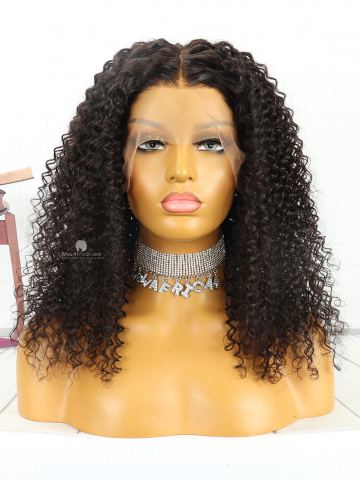 13X6in Thick Density Tight Curly Lace Front Human Virgin Wig[HW13]