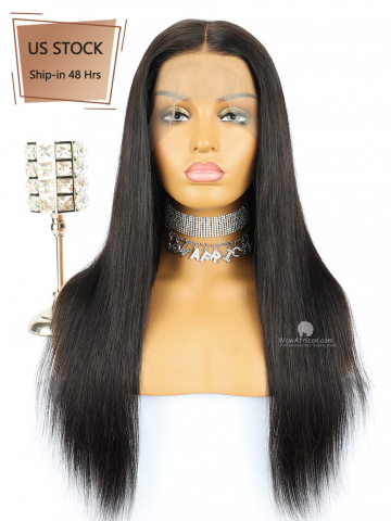 American Stock-360 Lace Wig 180% Density Silky Straight Indian Hair [TLW11US]