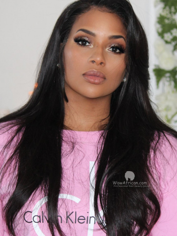 Silky Straight 360 Lace Wig 180% Density Indian Hair [TLW11M]