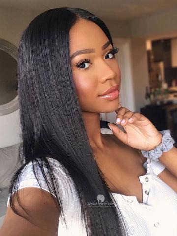 Black Silky Straight Brazilian Virgin Hair 360 Wig [TLW21L]