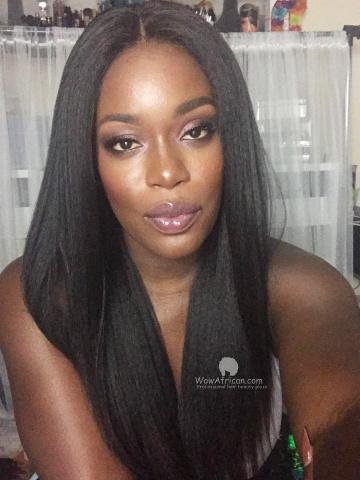 Kinky Straight Brazilian Virgin Hair 150% Density 360 Lace Wig [TLW22D]