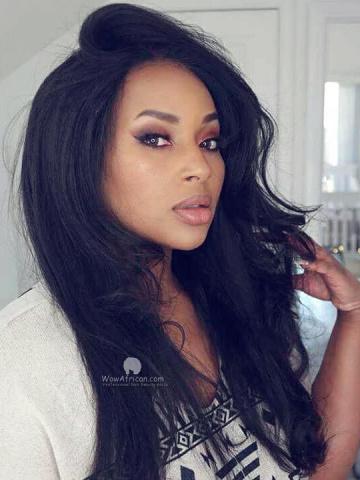 MyInvisibleChyrsalis Style 360 Lace Wig 150% density Italian Yaki Brazilian Virgin Hair [TLW22B]