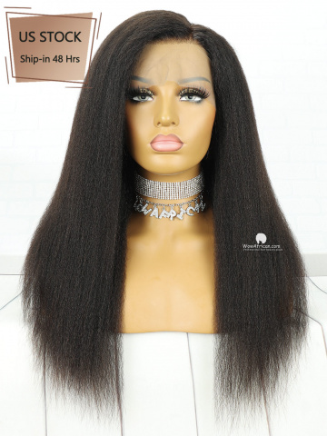 [American Stock]130% Density 360 Lace Wig Italian Yaki Malaysian Virgin Hair [TLW42US]