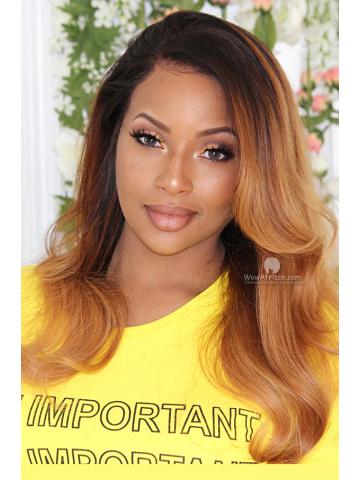 Ombre Caramel Color Virgin Brazilian Hair 360 Wig [TLW501M]