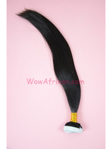 Brazilian Virgin Hair Natural Color Silky Straight Tape In Hair Extensions[TP01]