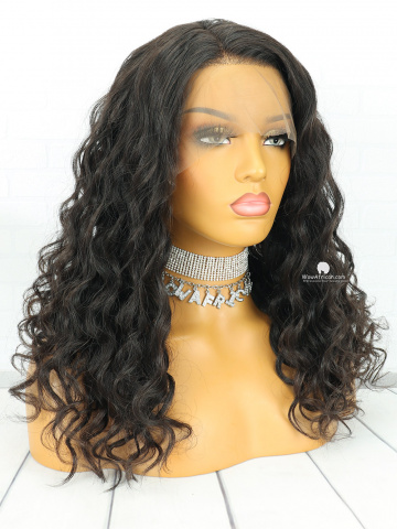 Natural Color Body Wave Brazilian Virgin Hair Lace Front Wigs[LFW08]