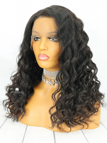 Natural Color Body Wave Brazilian Virgin Hair Full Lace Wigs[FLW14]