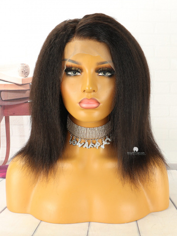 180% Density Italian Yaki Brazilian Virgin 360 Lace Wig[WCS106]