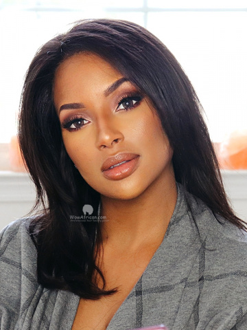 12in Thick Density Silky Straight Brazilian Virgin 360 BOB Lace Wig[WCS177]