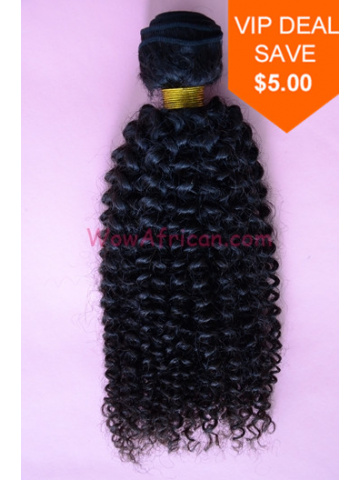 Natural Color Peruvian Curl Brazilian Virgin Hair Weave[WTB09]