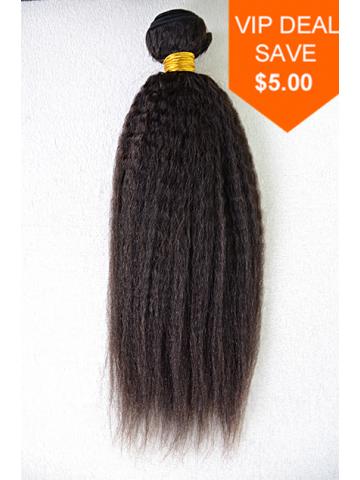 Natural Color italian yaki Brazilian Virgin Hair Weave[WTB10]