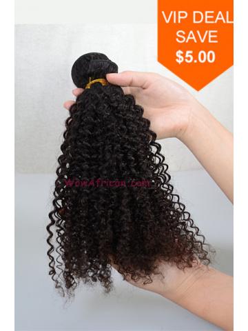 Natural Color Kinky Curl Brazilian Virgin Hair Weave[WTB12]