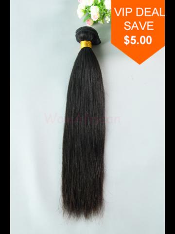 Natural Color Yaki Straight Peruvian Virgin Hair Weave [WTP02]