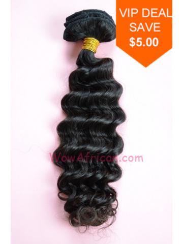 Natural Color Deep Wave Peruvian Virgin Hair Weave [WTP04]