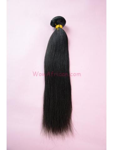Brazilian virgin hair yaki straight 1pc weave Bundle