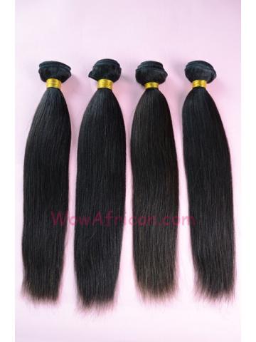 Peruvian Virgin Hair Weave 4pcs Bundle Natural Color Yaki Straight