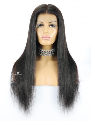 150% Density 360 Lace Wig Yaki Straight Brazilian Virgin Hair [TLW27]