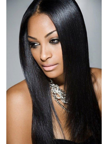 Natural Color Yaki Straight Brazilian Virgin Hair Full Lace Wigs[FLW13]