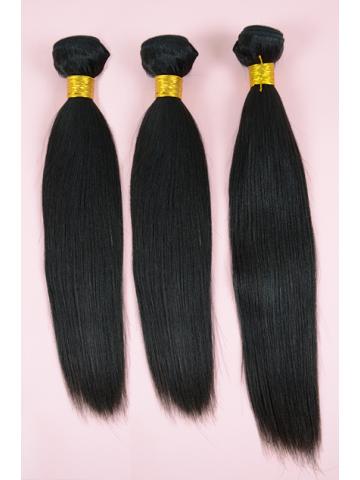 Brazilian virgin hair Yaki Straight 3pcs WeavesBundles