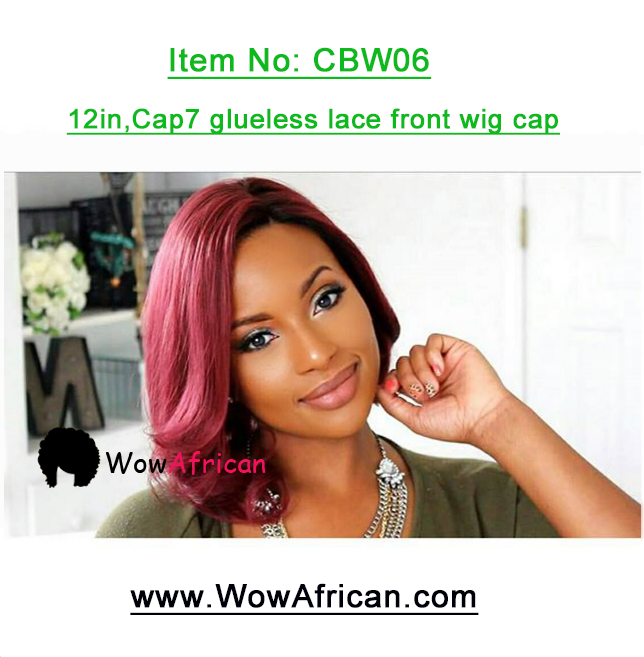 Hot Red Bob Style Brazilian #99J Auburn Hair Color Lace Wig 12in cap7 glueless lace front wig cap
