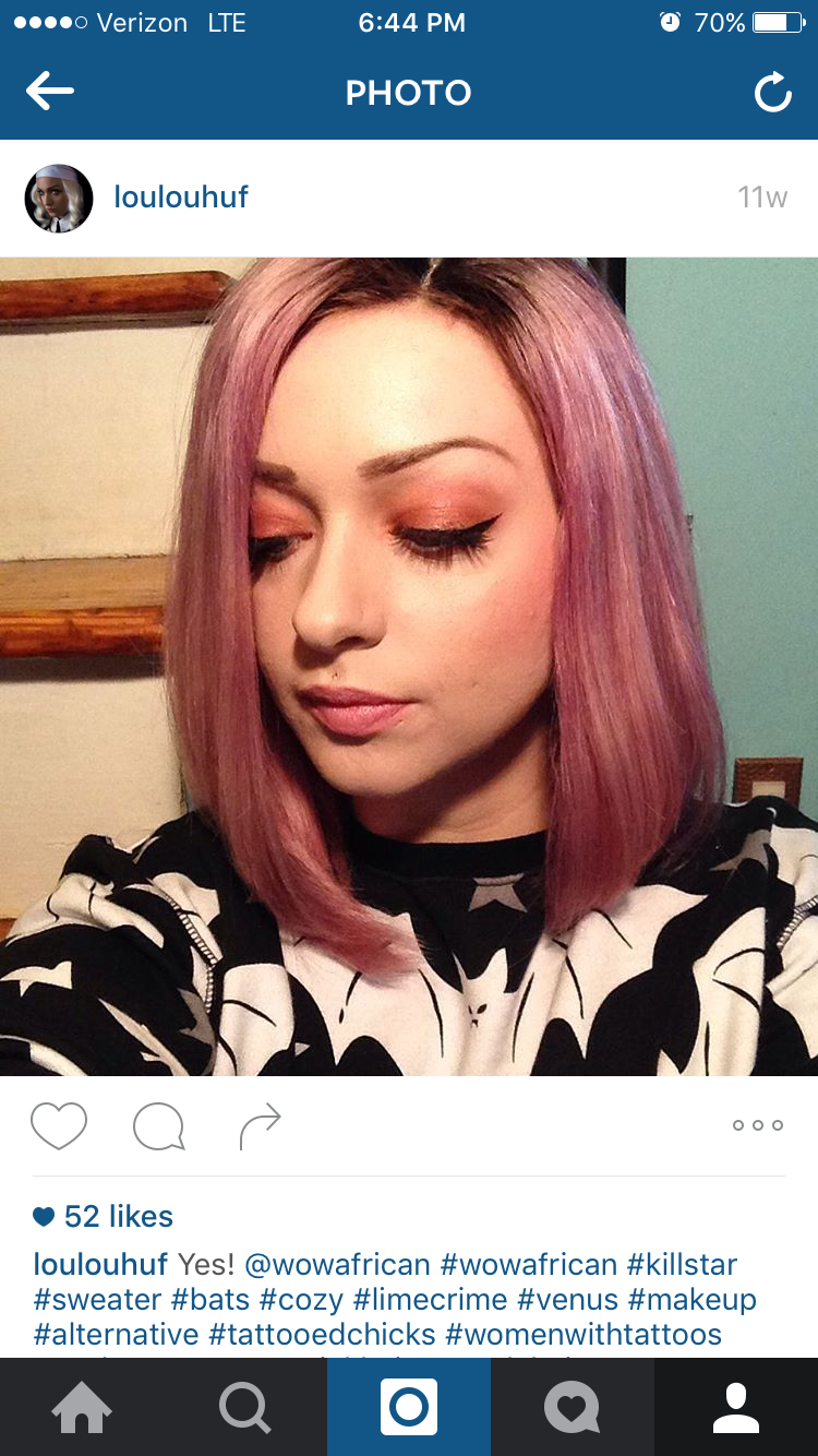 Colored pink!