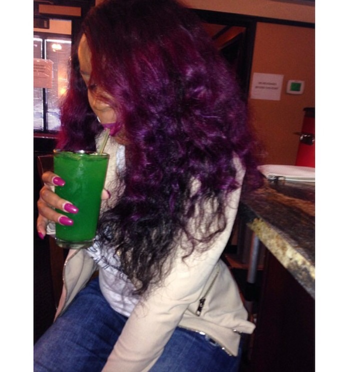 Black to Purple