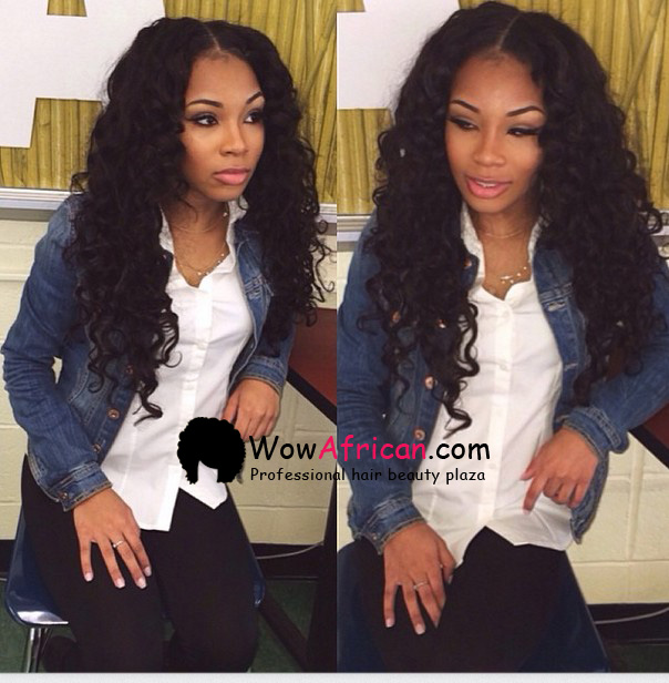Brazilian Wave Brazilian Virgin Hair 3 5x4inches Middle Part Closure