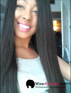 Natural Color Silky Straight Brazilian Virgin Hair Silk Top Lace Wigs[STW01] customer photo