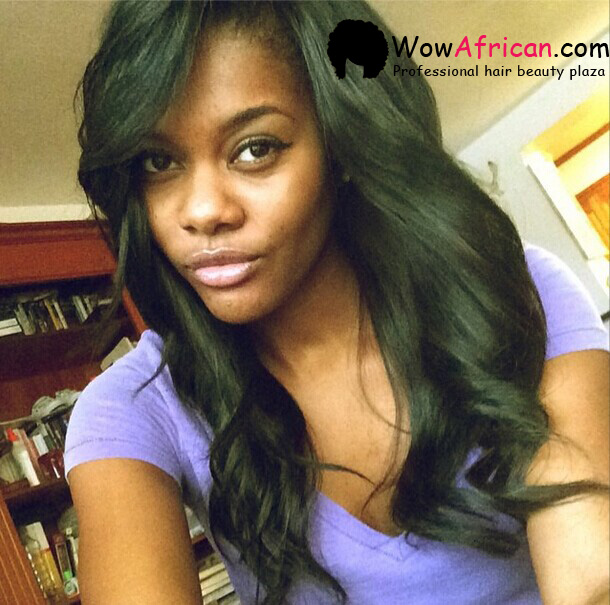 Natural Color Silky Straight Brazilian Virgin Hair Silk Top Lace Wigs[STW01]