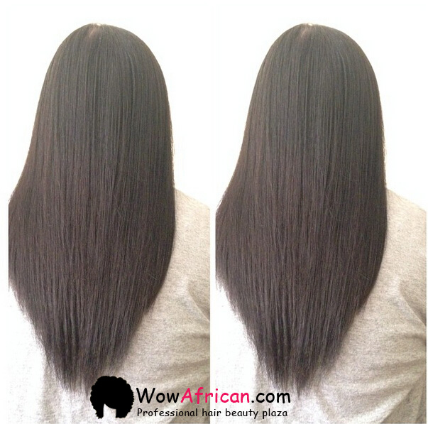 Natural Color Yaki Straight Brazilian Virgin Clip In Hair Extensions