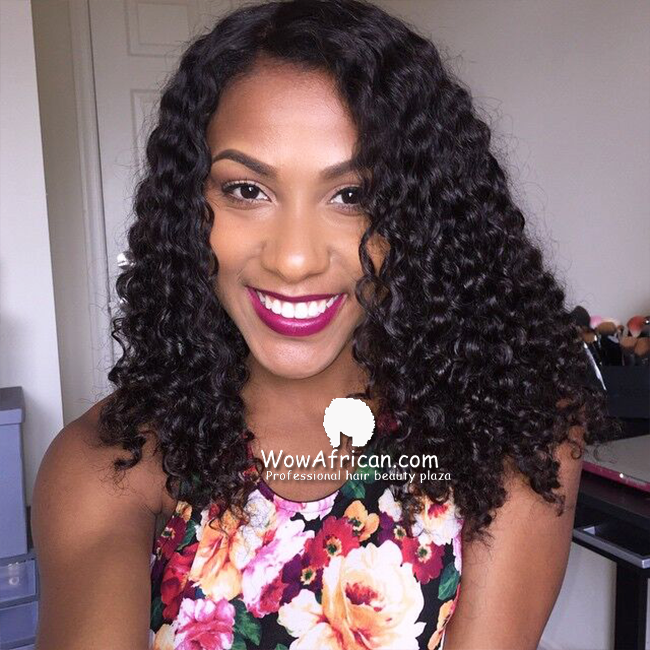Peruvian Virgin Hair Milan Curl A Silk Base Closure With 3pcs Weave