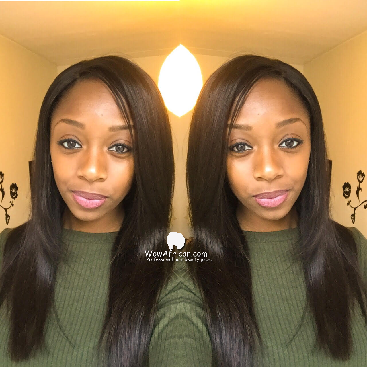 Malaysian silky straight virgin hair. 16 inch , 14 inch and a 10 inch lace closure