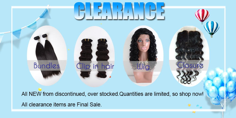 Clearancebrazilian Virgin Hair Weave Clip In Hair Extensionslace