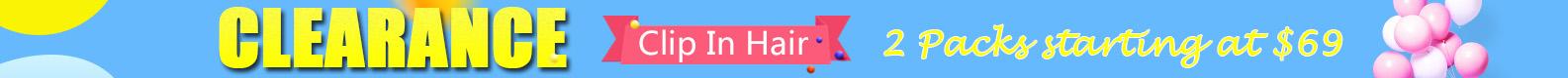 clearance clip in hair