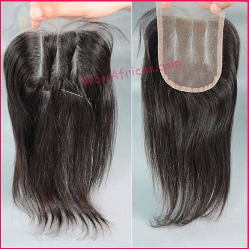 WowAfrican Three Part Lace Closure