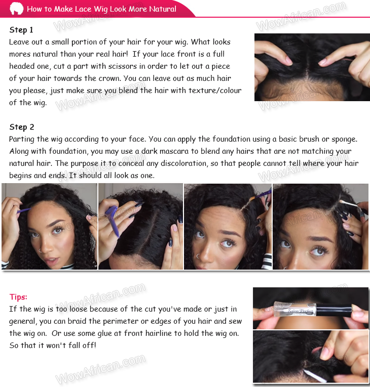 how to make lace wigs look natural